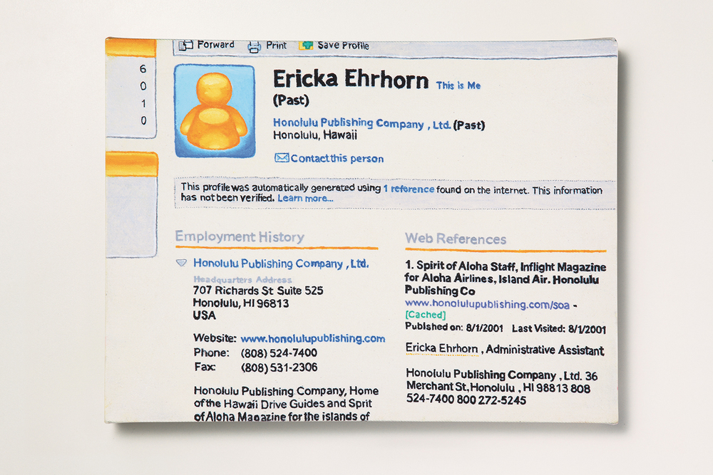 Search: Ericka // #14 // First Job • 2009 • Oil on canvas • 11.8 x 15.7 in • MAM - São Paulo Museum of Modern Art Collection