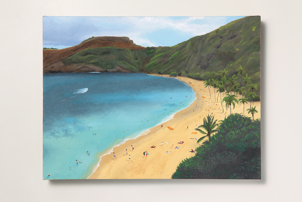 Search: Ericka // #28 // My Beach • 2009 • Oil on canvas • 11.8 x 15.7 in • MAM - São Paulo Museum of Modern Art Collection