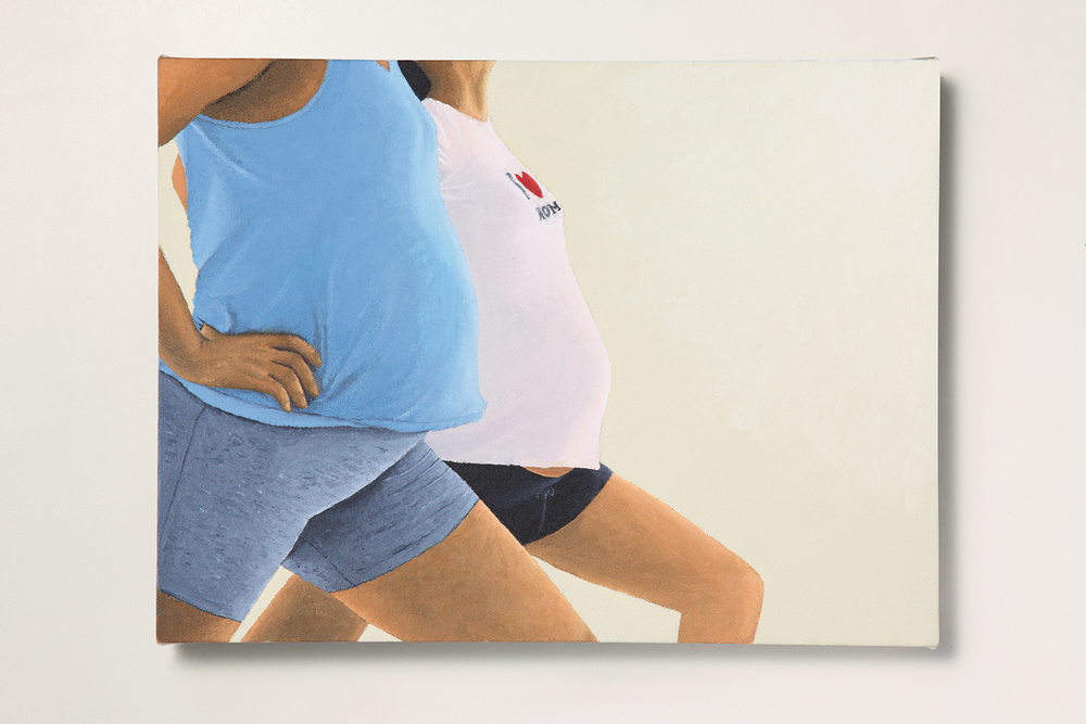 Search: Ericka // #30 // The Pregnancy • 2009 • Oil on canvas • 11.8 x 15.7 in • MAM - São Paulo Museum of Modern Art Collection