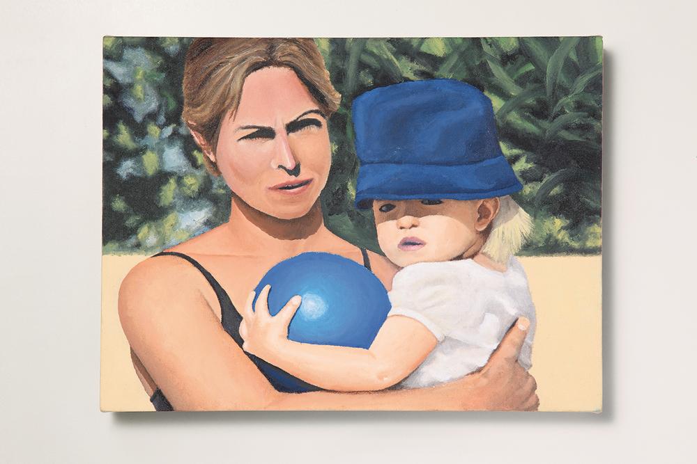 Search: Ericka // #32 // Mãe e Filha• 2009 • Óleo sobre tela •30 x 40 cm •  Coleção MAM - Museu de Arte Moderna de São Paulo