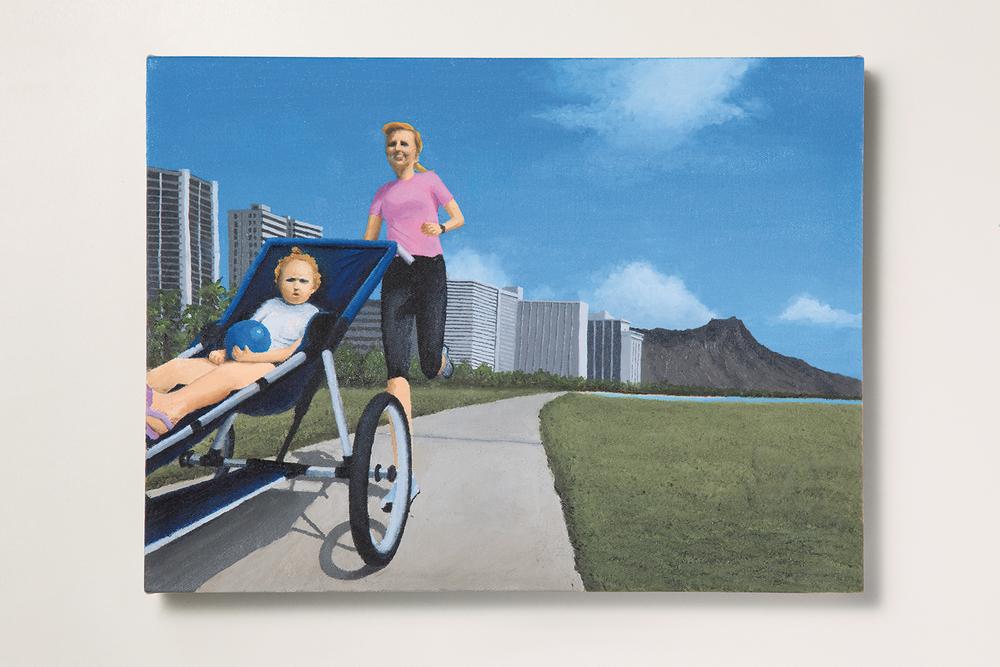 Search: Ericka // #34 // De Carrinho• 2009 • Óleo sobre tela •30 x 40 cm •  Coleção MAM - Museu de Arte Moderna de São Paulo