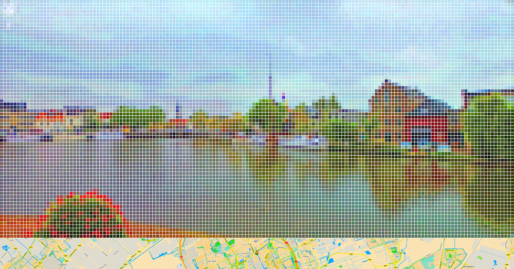 "After Vermeer ""View of Delft"" (Street View) • 2011 • Print on methacrylate • 24.8 x 47.24 in"