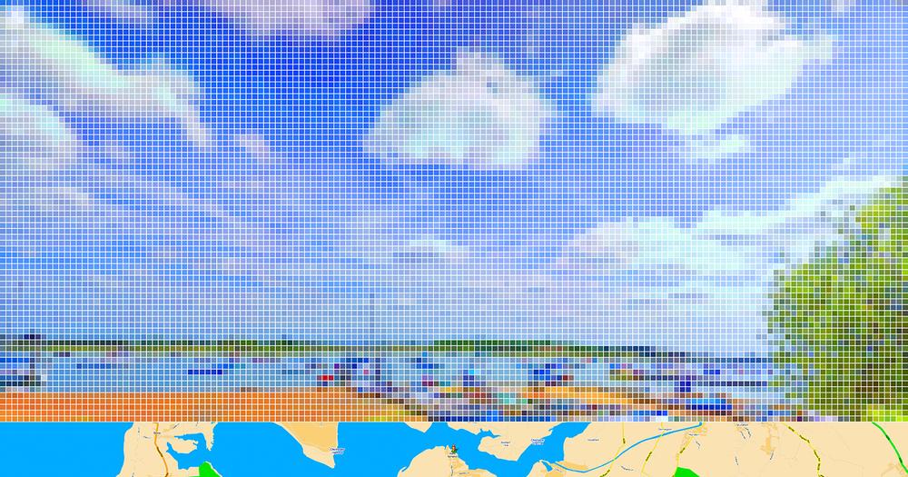 "After Turner ""Chichester Canal""(Street View) •2011 •Impressão em metacrilato •63 x 120 cm"