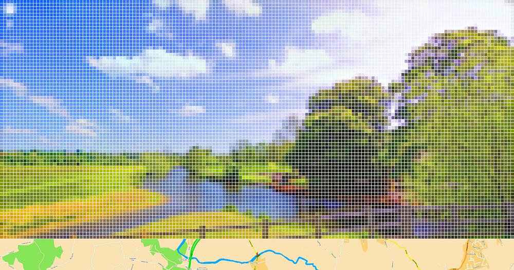 "After Constable ""Flatford Mill""(Street View) •2011 •Impressão em metacrilato •63 x 120 cm"