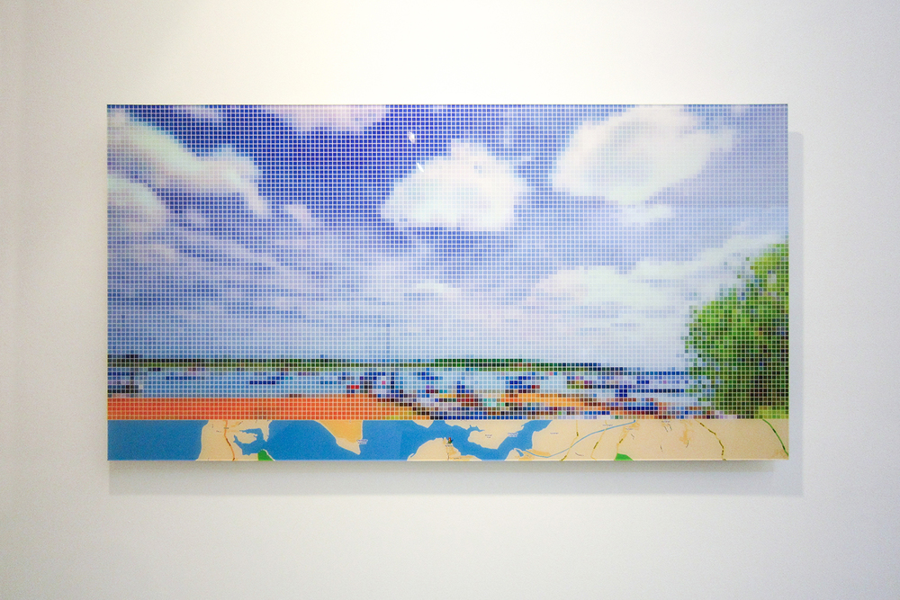 "After Turner ""Chichester Canal"" (Street View)   • 2011 •   Print     on   methacrylate   • 24.8 x 47.24 in"