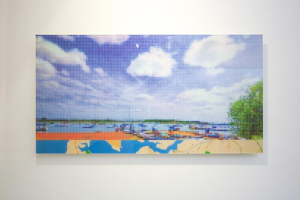 "After Turner ""Chichester Canal""  (Street View) •  2011 •  Impressão em metacrilato •  63 x 120 cm"