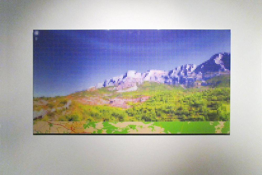"""After Cezanne """"Mont Sainte-Victoire"""" (Street View) •  2011 •  Impressão em metacrilato •  63 x 120 cm"""