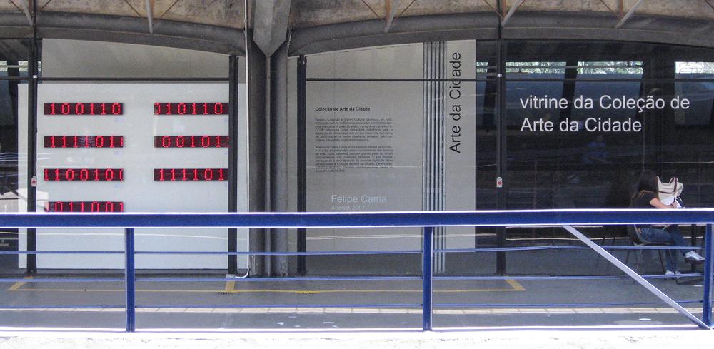 Acervo • 2007 • Vista da exposiçãoVitrine da Coleção de Arte da Cidade, Centro Cultural São Paulo, 2009