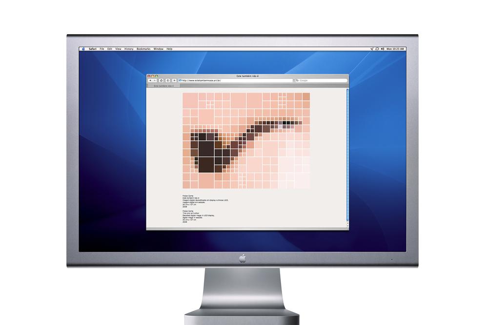 Este Também Não É •2006 •Imagem digital decodificadaem display luminoso LED,imagem digital em website •20 x 107 cm, 527 x 700 pixels