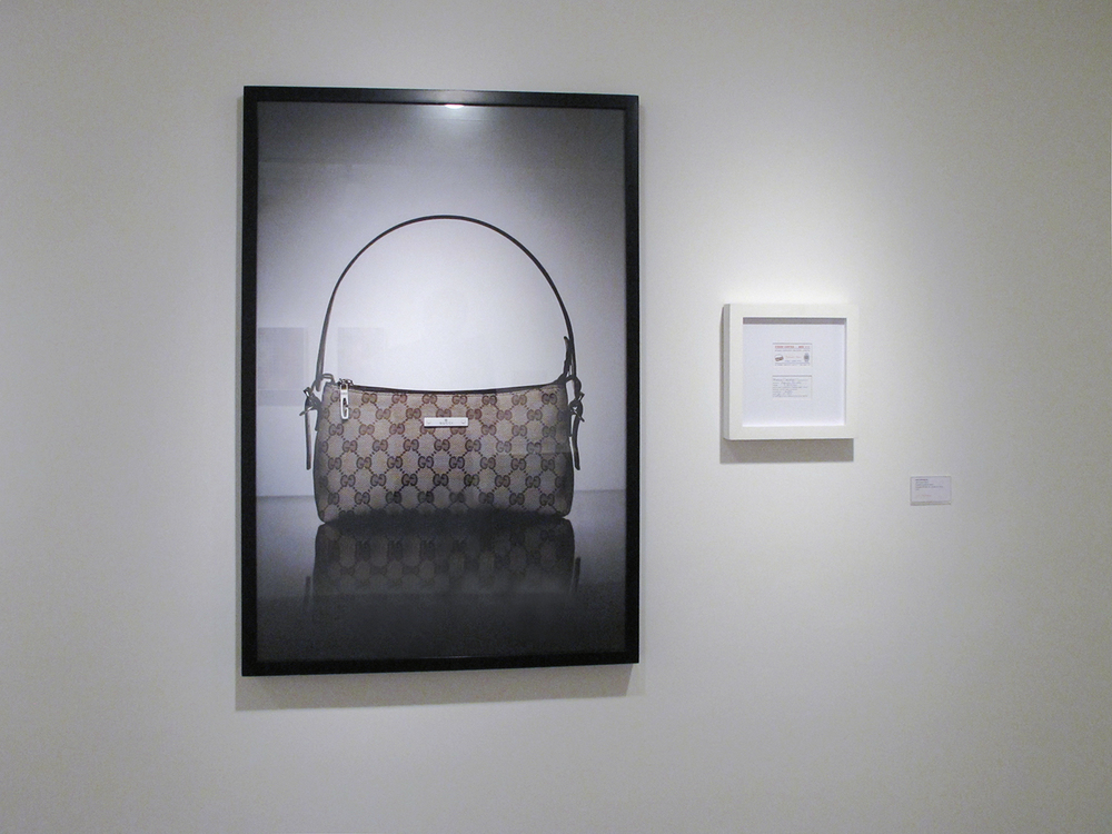 Gucci: R$ 105,00   (What Seduces You series) •   2004 •   Photograph, digital print, sales receipt •  47.2 x 31.5  in, 11.8   x 11.8 in (di  pty  ch)