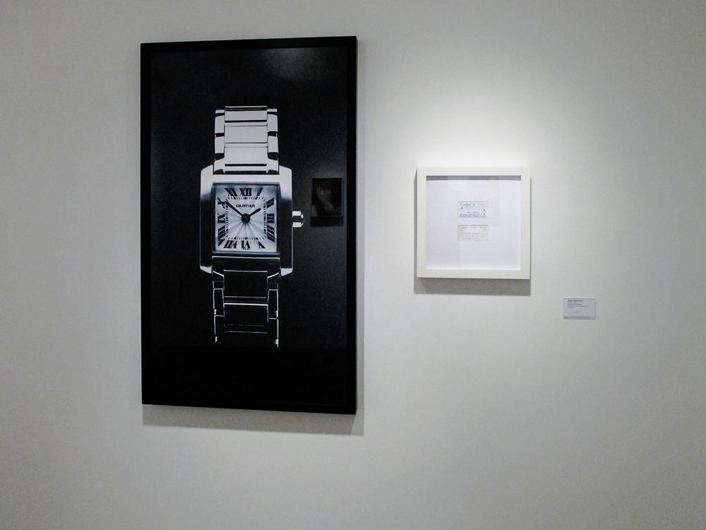 Cartier Tank: R$ 120,00 (série O Que Te Seduz) •2003/2004 •Fotografia, impressão digital, recibo de compra •120 x 70 cm, 30 x 30 cm (díptico)