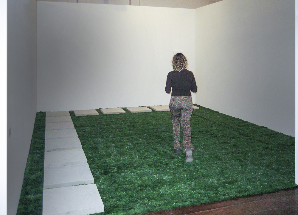 I Make Mine Myself   •   2006 • Photograph  , artificial grass, concrete •   Dimensions variable