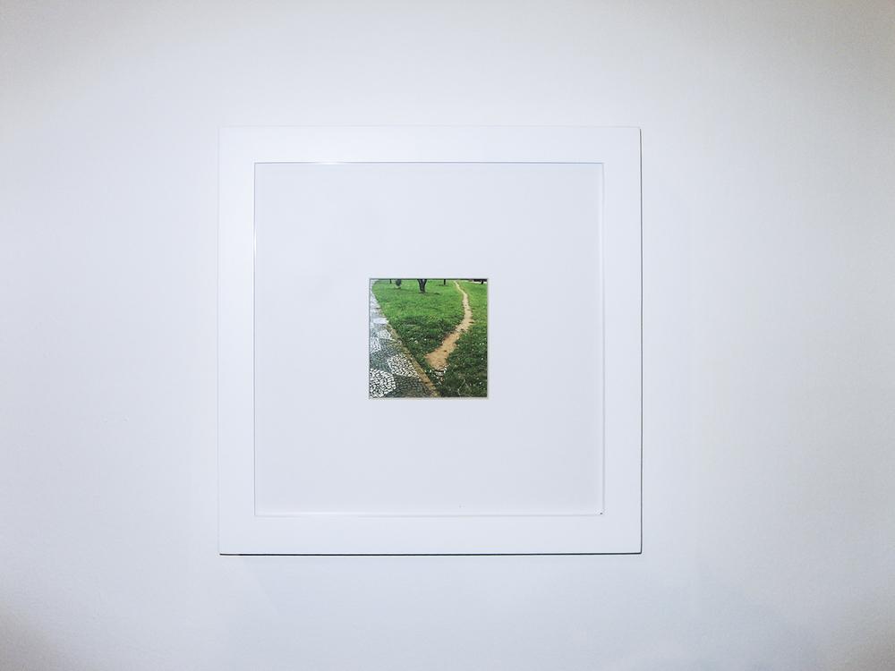 O Meu Eu Mesmo Faço(detalhe) •2006 • Fotografia, grama sintética, concreto •Dimensões variáveis