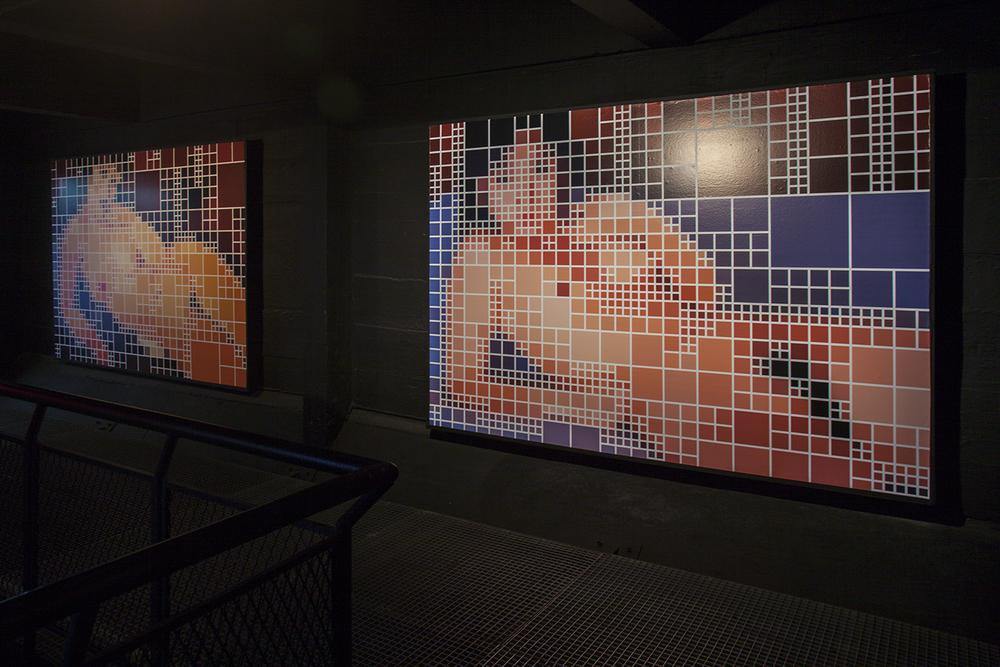 Modigliani x Tomosaki •2008 •Fotografia, vinil adesivo •Dimensões variáveis