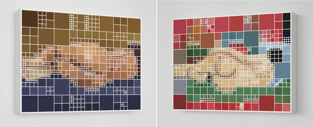 Katia x Matisse •2007 • Fotografia, impressão lenticular •80 x 69 cm• (duas vistas da obra)