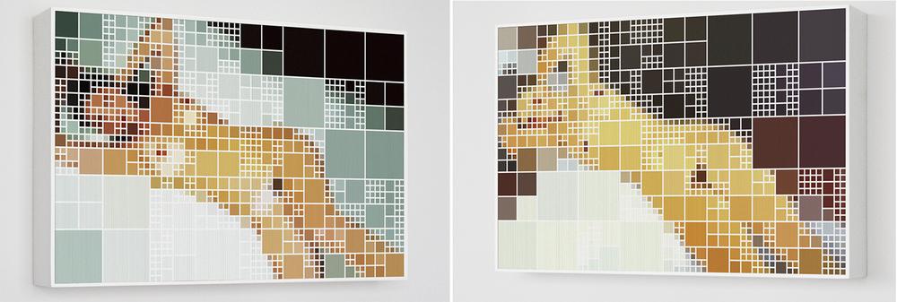 Sabrinax Modigliani •2006 • Fotografia, impressao lenticular •50,5 x 80 cm• (duas vistas da obra)
