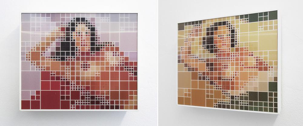 Gobbis x Elaine •2008 •Fotografia, impressão lenticular •30 x 36 cm • (duas vistas da obra) •Coleção Museu de Arte Moderna - São Paulo