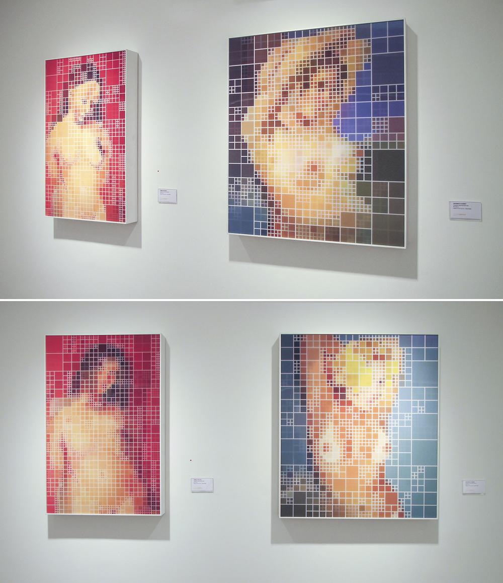 Pamela x Picasso, Paulinha x Courbet • 2007 • (duas vistas das obras)