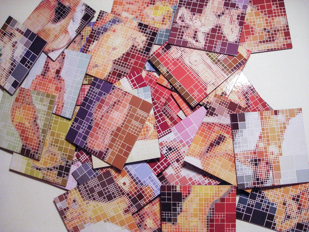 Jogo da Memória •2009 •32 peças impressas sobre papel •16,5 x 8x 5 cm (caixa), 7,5 x 24 cm (folheto), 8x 8 cm (cada peça)