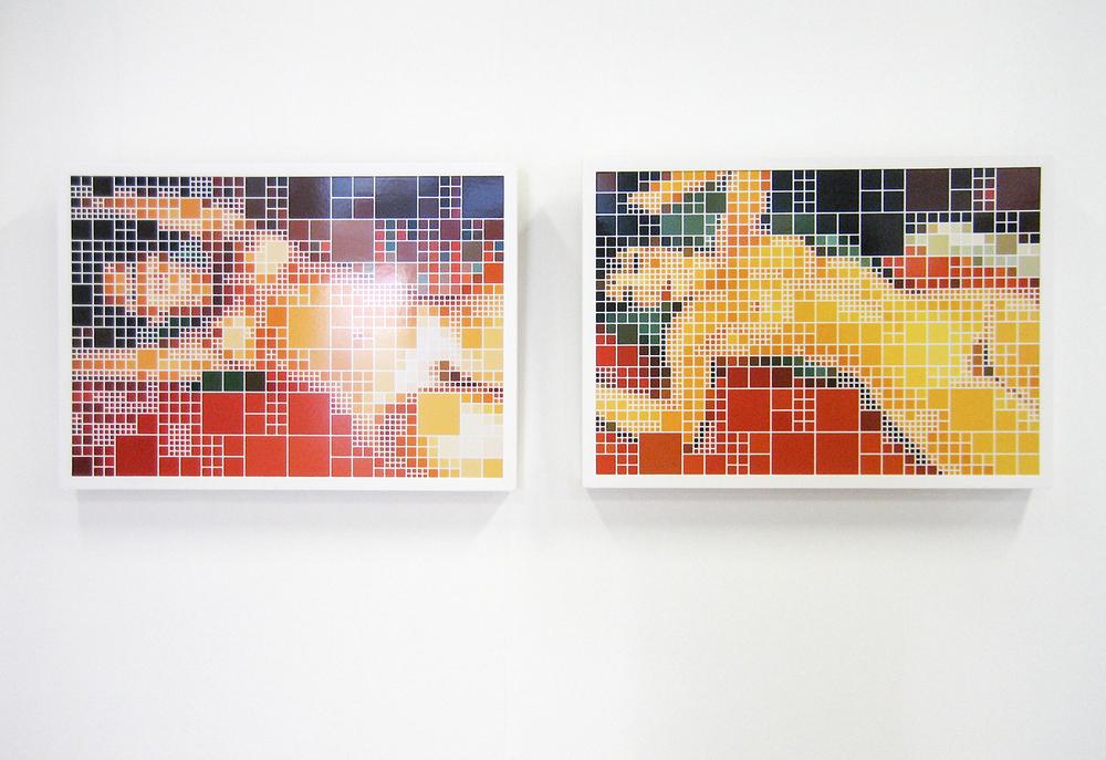 Dois Nus Parecidos, Um After Modigliani •2005 • Fotografia, impressão digital •42,5 x 61 cm (cada)