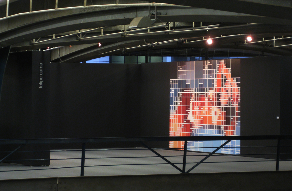 Solo show at São Paulo Cultural Center, November 2007. Work shown: Modigliani x Alexandra (2007).