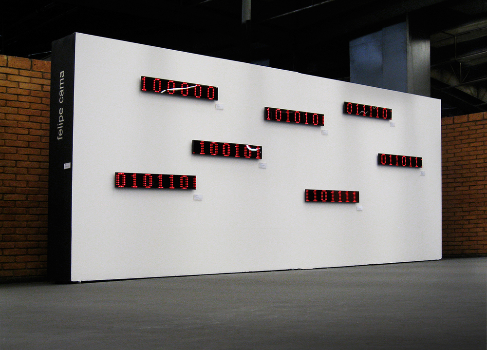 Solo show at São Paulo Cultural Center  , November 2007. Work shown:   Collection (2007).