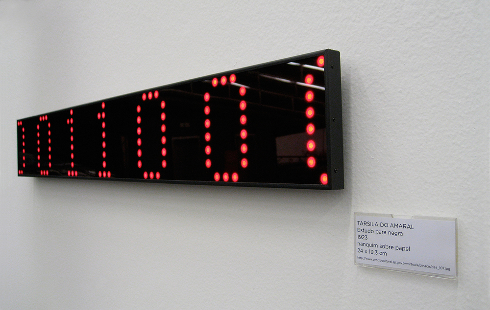 Solo show at São Paulo Cultural Center, November 2007. Work shown: Collection (2007).