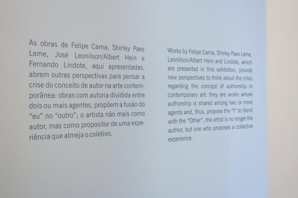 Exposição coletiva  O Artista Como Autor / O Artista como Editor  , no MAC/USP, São Paulo, junho 2013.  Curadoria Tadeu Chiarelli.