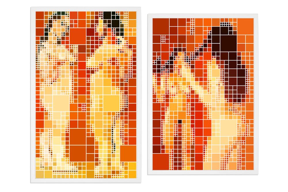 Quatro Nus Parecidos, Dois After Picasso •2005/2006 • Fotografia, impressão digital•62x 37,5 cm, 57,4x 37,5 cm