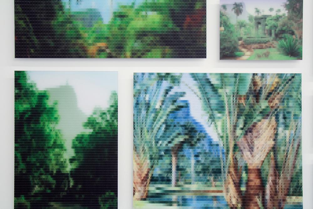 Vista da Montanha do Corcovado desde o Jardim Botânico (detalhe)•2010/2015 • Impressão em metacrilato e impressão em papel algodão • Dimensões variáveis