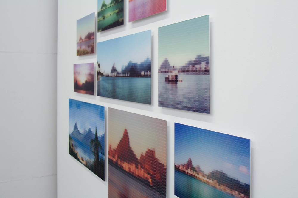 Lagoa Rodrigo de Freitas, Perto do Rio(detalhe) •2010/2015 • Impressão em metacrilato e impressão em papel algodão • Dimensões variáveis