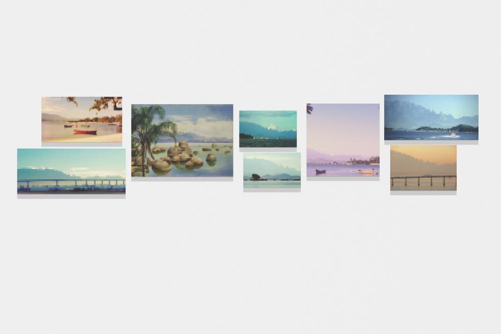Vista da Baía do Rio com Serra dos Orgãos ao Fundo•2010/2015 • Impressão em metacrilato e impressão em papel algodão • Dimensões variáveis