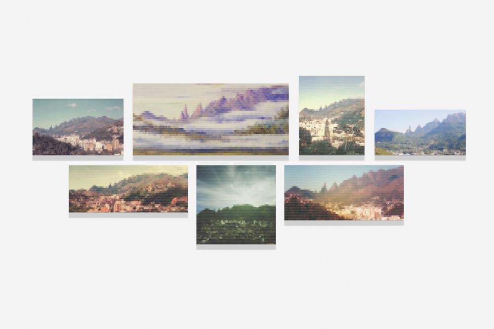 Vista da Serra dos Orgãos desde Teresópolis•2010/2015 • Impressão em metacrilato e impressão em papel algodão • Dimensões variáveis