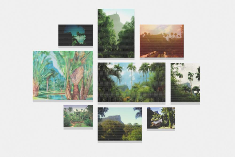 Vista da Montanha do Corcovado desde o Jardim Botânico•2010/2015 • Impressão em metacrilato e impressão em papel algodão • Dimensões variáveis