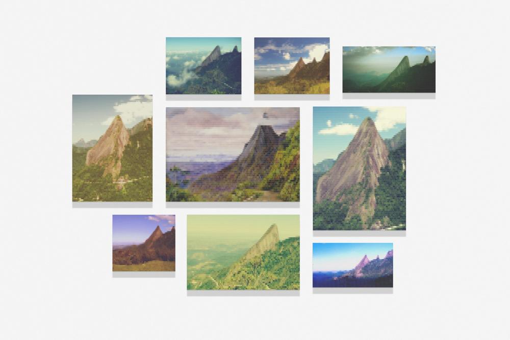 Pico dos Orgãos em Teresópolis e Baía do Rio ao Fundo•2010/2015 • Impressão em metacrilato e impressão em papel algodão • Dimensões variáveis