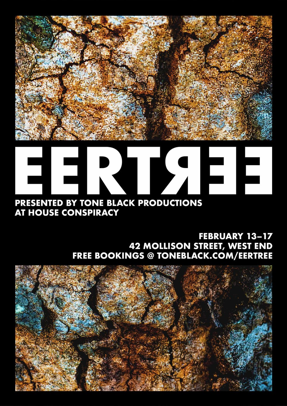 EERTREE - February 13–17, 2018EERTREE is an audio-focused show I co-wrote and produced for Tone Black Productions, under direction from Tony Brumpton.EERTREE's first season was successfully sold out.Responsibilities: writing, design, marketing, and venue logistics.