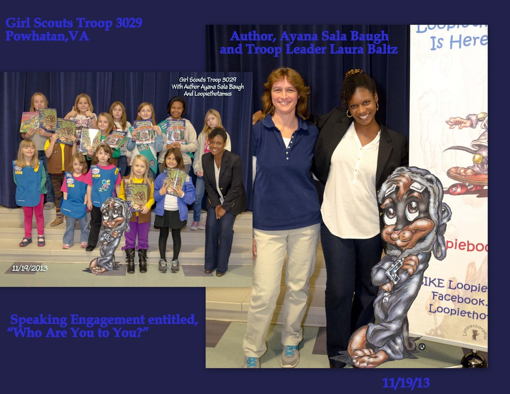 Book Me Pic with Girl Scouts Speaking Engagement 111913.jpg
