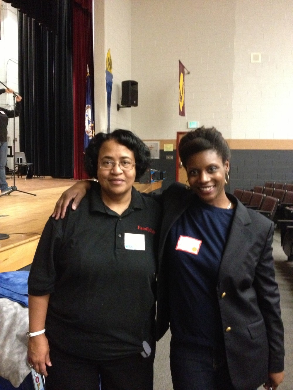 Caroline County Middle School 9th Annual Family Fair on 031613 Mrs Jessie Rollins and I.jpg