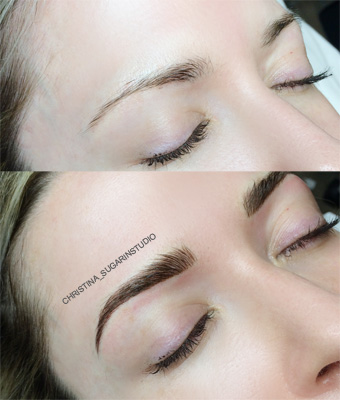 SHADING + MICROBLADING - COMBO BROWS