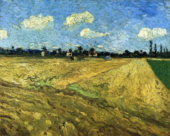 Ploughed Field by Vincent Van Gogh (1888)