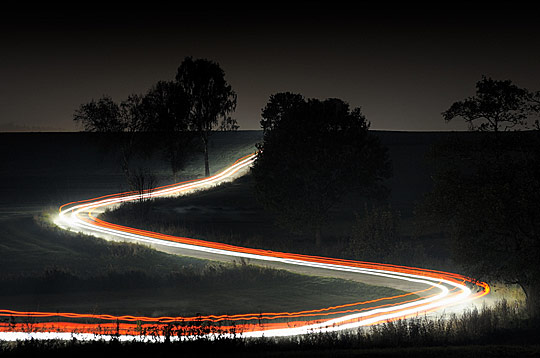 Country Road at Night by Przemyslaw Wielicki