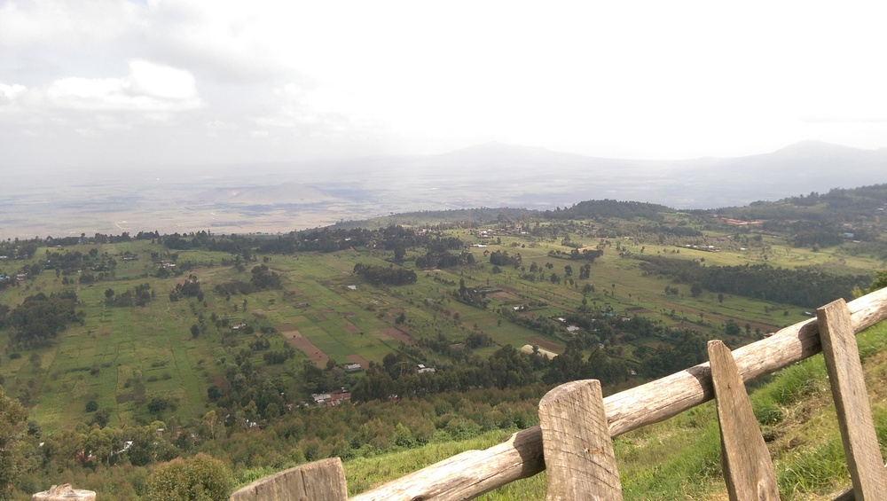 From the View Point looking out over the Rift Valley at 2500 m above sea level. Spectacular!