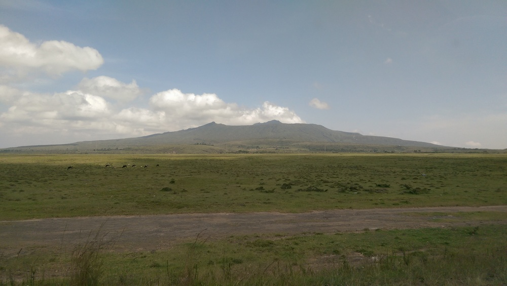 Mt Longonot in the Rift Valley north west of Nairobi