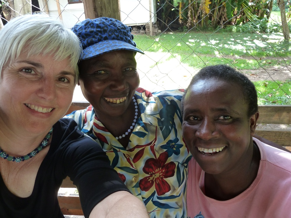 A selfie with Milkah and Monica at the Kenana Knitters...more on Milkah later this year.