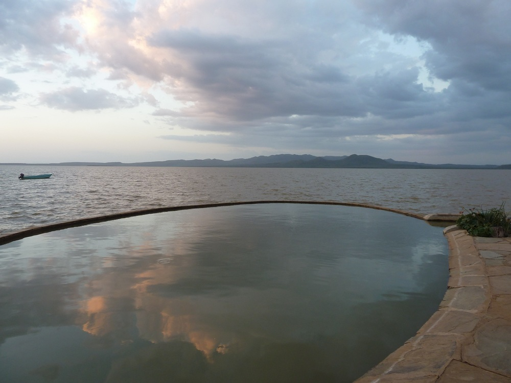 Lucky enough to swim in this pool at sunset on Samatian Island, Lake Baringo.