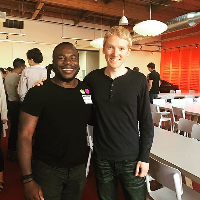 A few years ago, I read Patrick Collison's story and it lit a fire inside of me! Him and his younger brother, John, were featured in the Forbes 30 under 30 for starting an online payments company, Stripe at the age of 21. His story and those of many other young changemakers gave me purpose and conviction at a time when I was a very different person than today - lost and troublesome.  After all that has happened in my career since then, it was an honor to finally meet and trade stories with him.