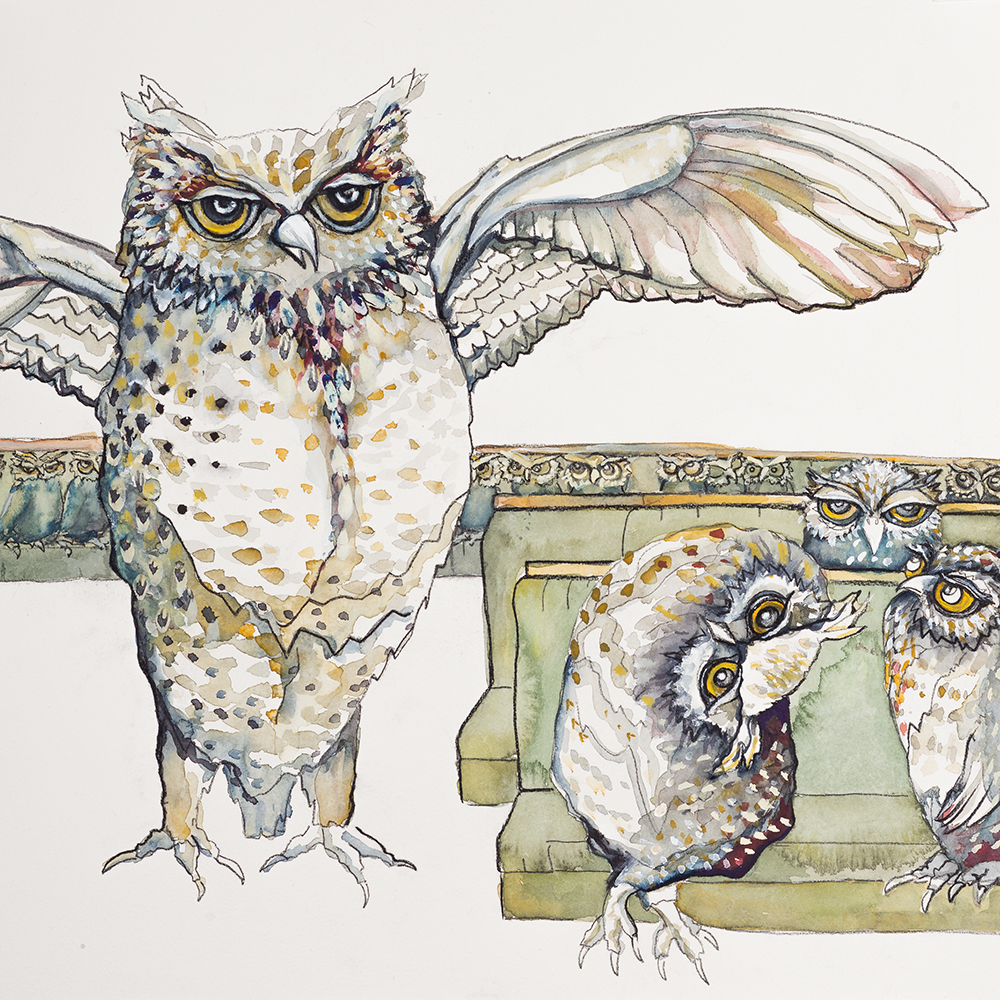 'Parliament of Owls' (2015) Helen Kocis Edwards