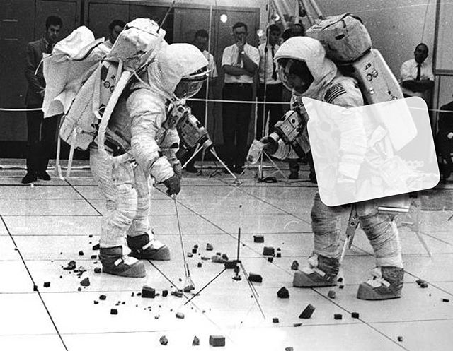 CAPTION CONTEST! This 1969 photo of astronauts practicing picking up 'space rocks' in preparation for the Apollo 12 mission appears on page 62 of our latest issue - can you caption it? Get your kids involved and comment with their best caption, name and age. Our fave caption will be published in our next issue!