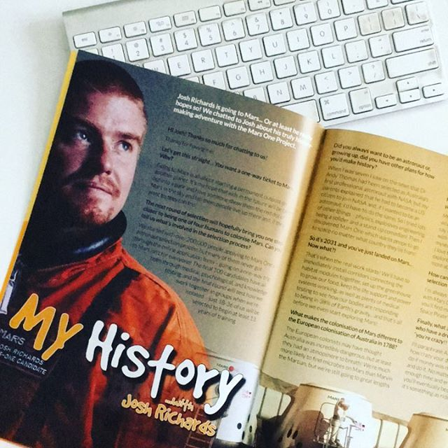 Our latest issue features an interview with Josh Richards who just might be one of the first humans to go to Mars! Talk about history-making! Follow his journey at @mighty_ginge