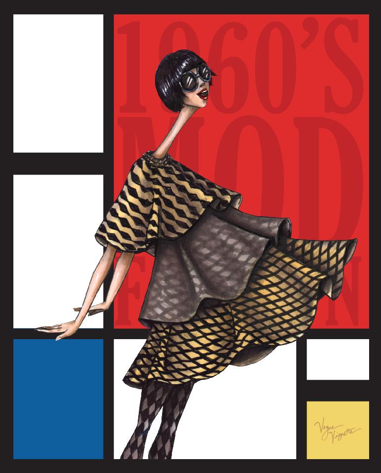 Mod Fashion Illustration